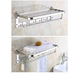 Giá để đồ nhà tắm 2 tầng inox 304, giá treo khăn bằng thép không gỉ
