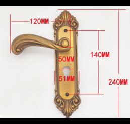 Khóa cửa tay cầm hợp kim nhôm, bộ khóa cửa tay gạt phong cách châu âu